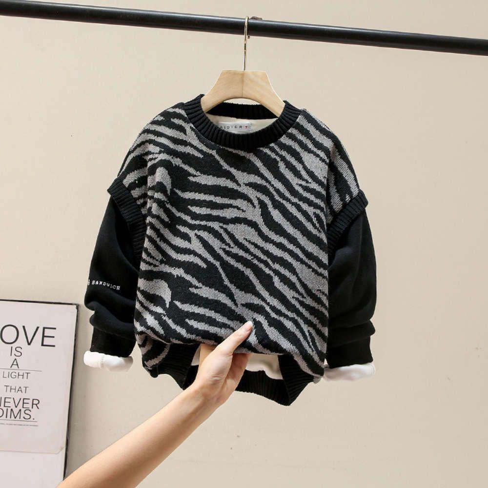 Толстовки для толстовок Физическая стрельбаут осечья Зимний плюшевый свитер мальчиков утолщенные круглые шеи корейский первичная и средняя школьная детская ровная мода