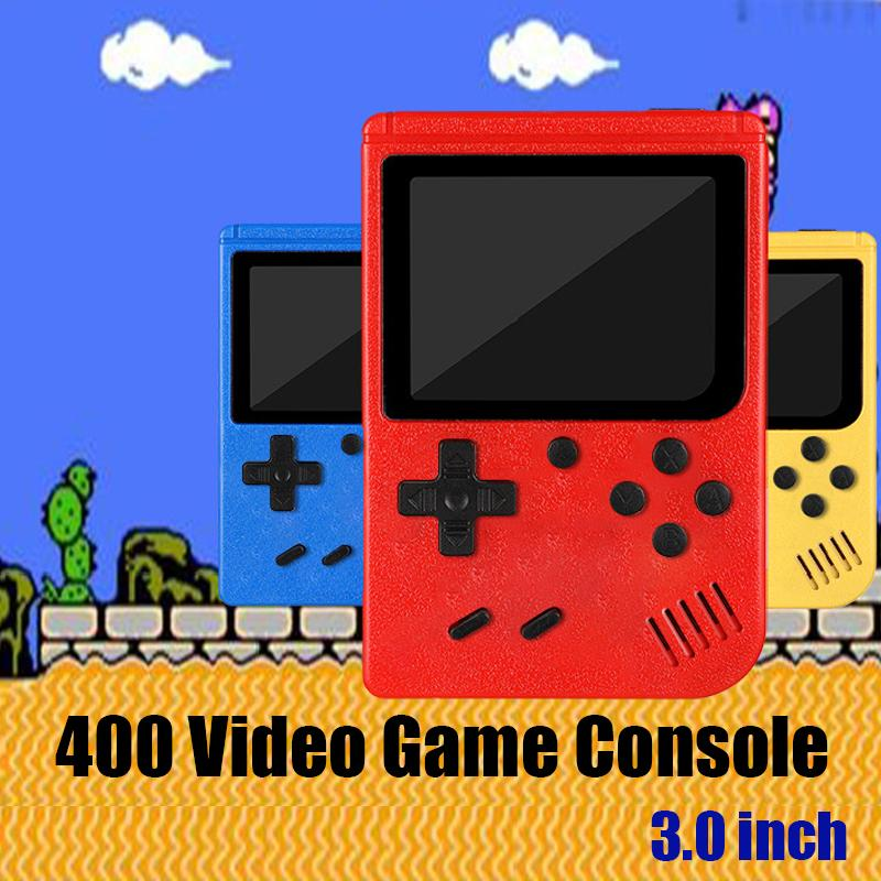 400-in-1 Handheld Video Game Console NES Retro 8-bit Design 3.0 inch LCD 400 Classic Games Supports Two Players AV Output Pocket Gameboy With Detail Box