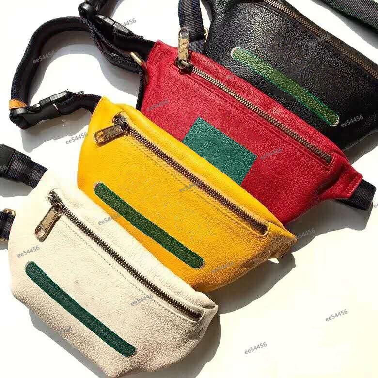 Homens de luxo de couro genuíno Mulheres Designer Stlye Waistpacks Bumbag Cross Body Moda Cinturão Ombro Pockets Bolsas Cartão Capas Bolsas De Bolsas Bolsas
