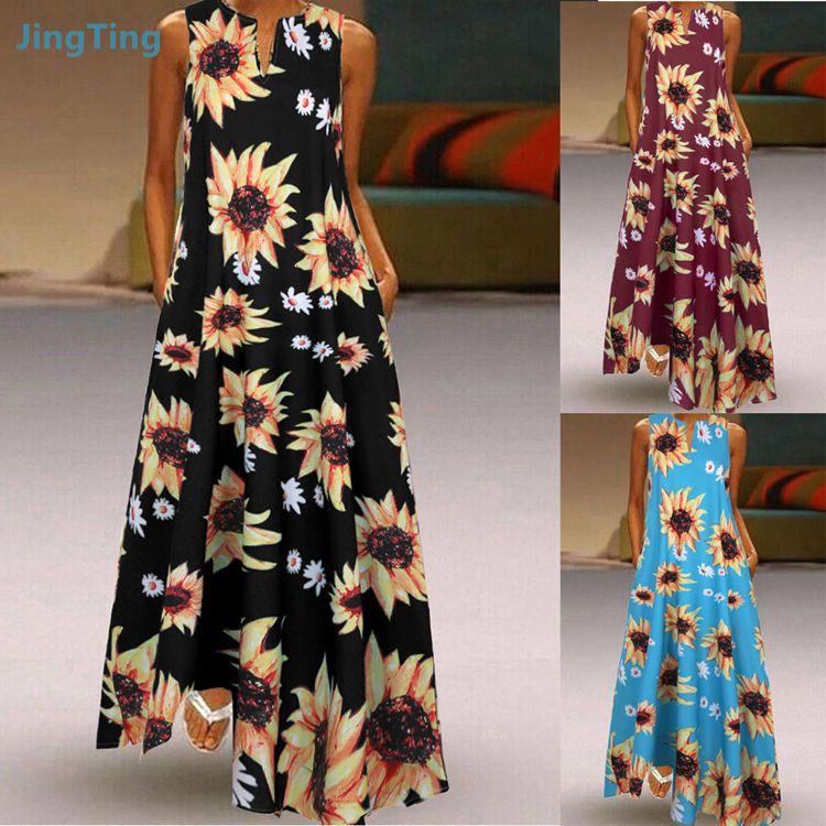 Женская одежда платья пострадавших одежда платья повседневные женские платья одежды stroundyk9632h # 2020 мода sunflo