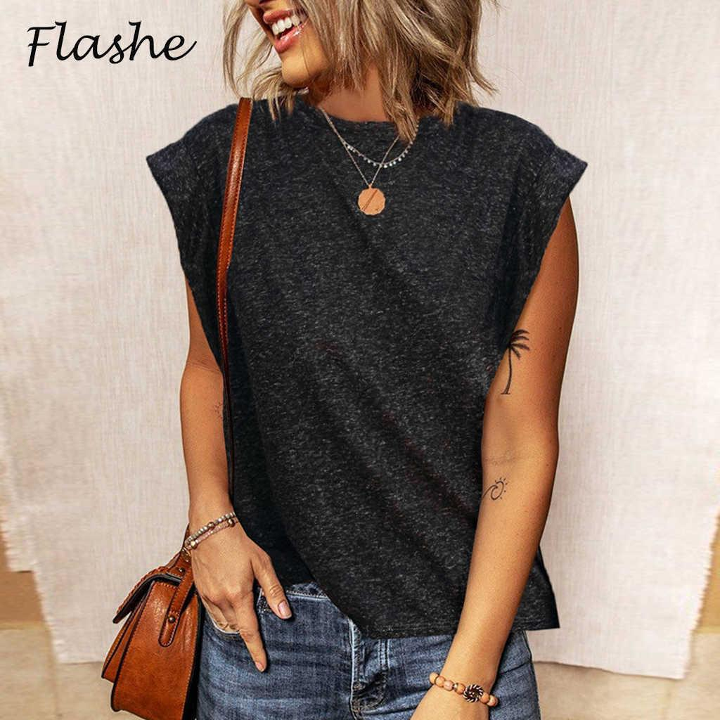 Sommermode Damen Kurzarm Hemd Einfaches T-shirt Beiläufige lose T-Neck-elegante Tops Damen T-Shirt S-2XL 210603