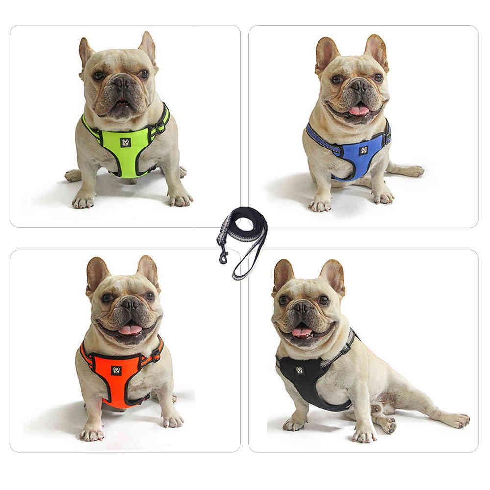 Pet Dog Harness with Leash Adjustable Vest Walking Supplies Soft Breathable pet sets Collar Puppy for Small Medidum Large Dogs