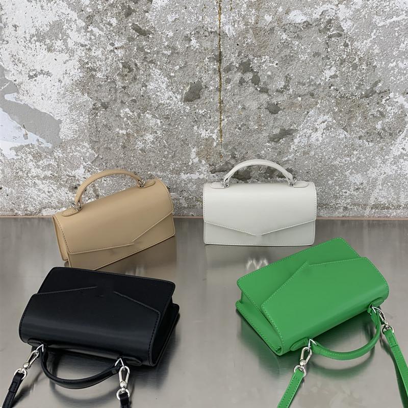 حقيبة سيدة مزينة بأزرار إلكتروني معدنية 4 لون أزياء سكوير حقيبة يد أسود أخضر كاكي الأبيض