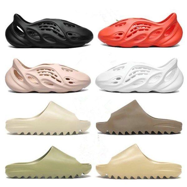 Erkek Terlik Ayakkabı Köpük Koşucu Kemik Çöl Kum Ararat Turuncu Kırmızı Kadın Erkek Slaytlar Sandalet Kaydırıcılar Platformu Ev Yaz Açık Plaj Terlik 36-45