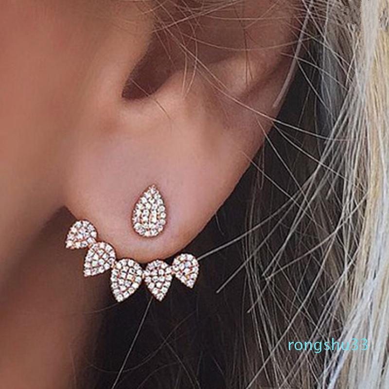 Brincos de garanhão de gota de água bonito coreano para mulheres meninas cristal geométricas pequenas brinco moda orelha acessórios de jóias