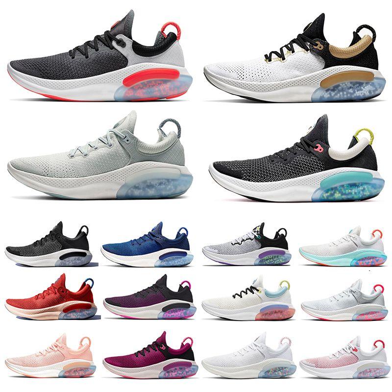 Joyride Run Flyknit FK 2019 Platinum Tint Black White JOY RUN Knit Mens RIDE Running Shoes Racer Blue University Red cushioning Light Men sports sneakers 40-45