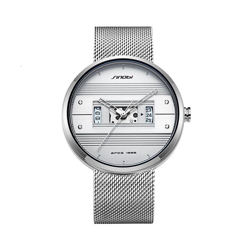 Productos de Shinobi en Watch July Creative Fashion Concept Men's Mesh Band Watch 9831