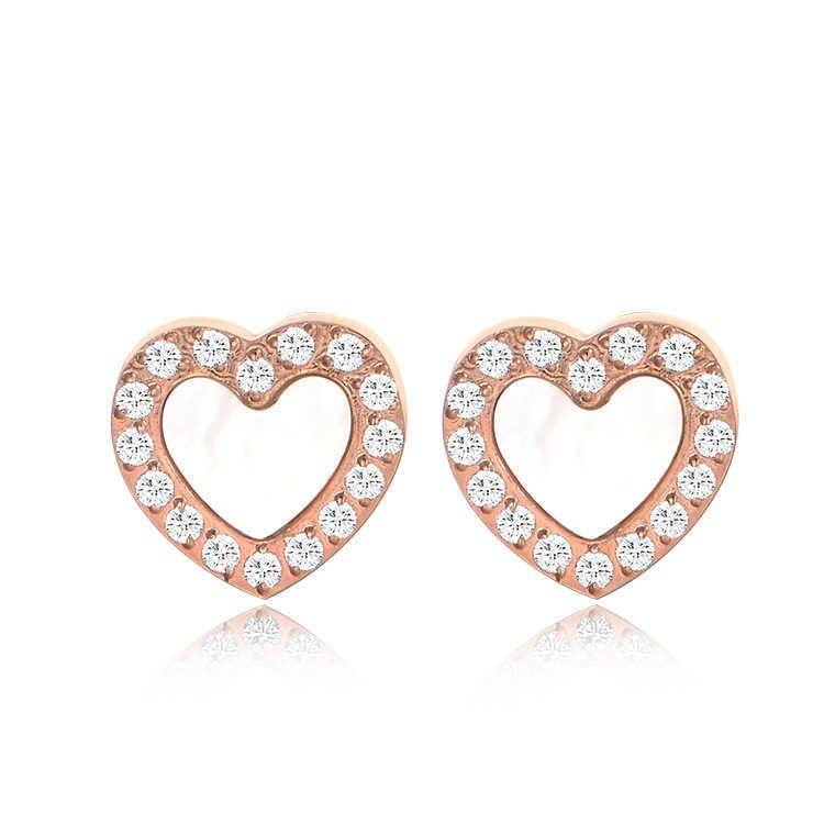 Diamant-Ohrringe Südmagizes Geschenk Rose Gold Titan Stahl Liebe Ohrringse58k