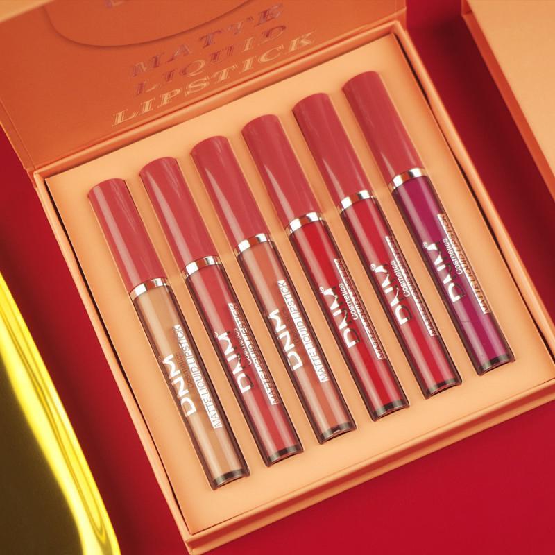 Arancione labbra smalto velluto opaco rossetto impermeabile impermeabile gloss liquido liquido tazza di taglio rosso trucco rosso