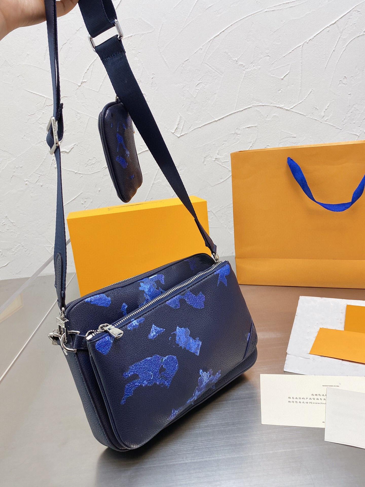 Moda Designers Mens Última Chegada Crossbody Bag Couro Três-em-One Bags 2021 Luxurys Messenger Classic Bolsas