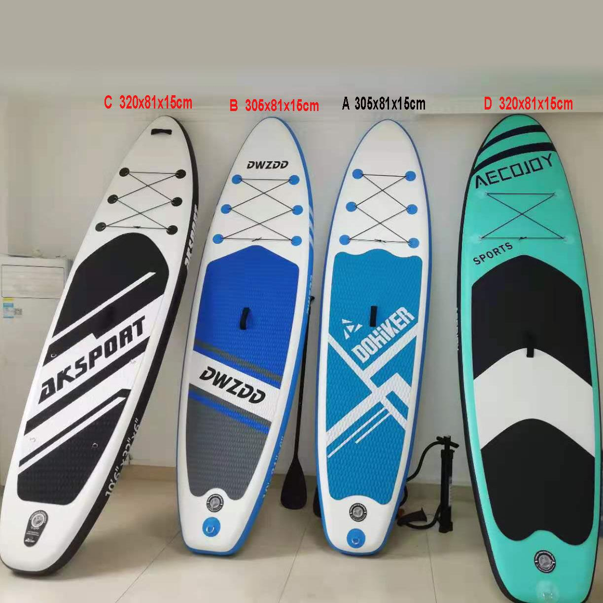 whole sale surfboard 320x81x15cm super stable inflatable paddle board ISUP stand up surfboards Yoga kayak For Floating and water sports in stock by ship with Duties