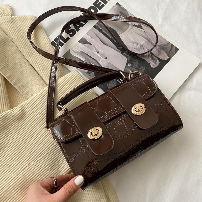 Billetera de mujer otoño e invierno moda patrón de cocodrilo bolsa de mensajero portátil un solo hombro