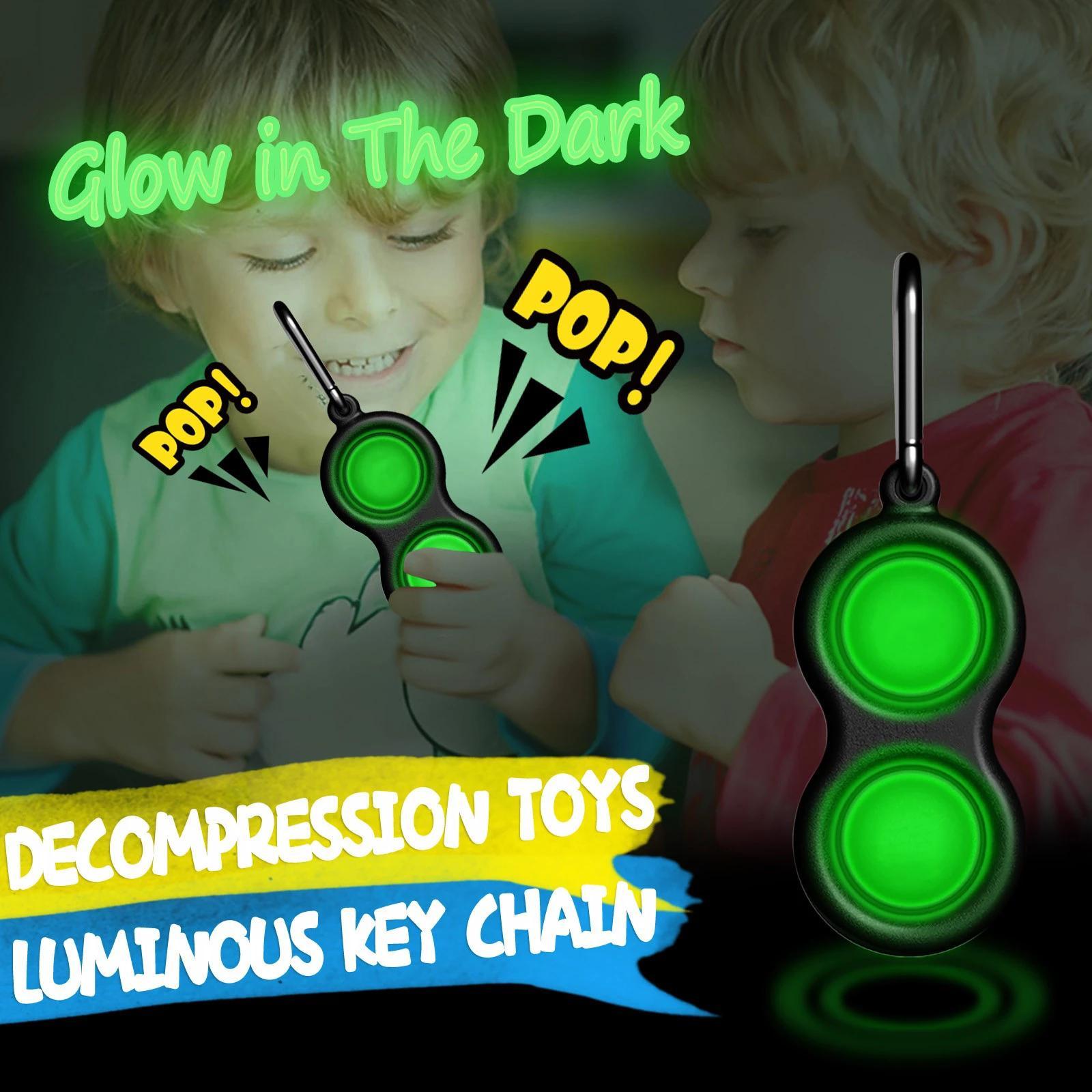 Luminoso juguete Niños Fidget Fidget Stress Reliever Unicorn Push Bubble Simple Dimple
