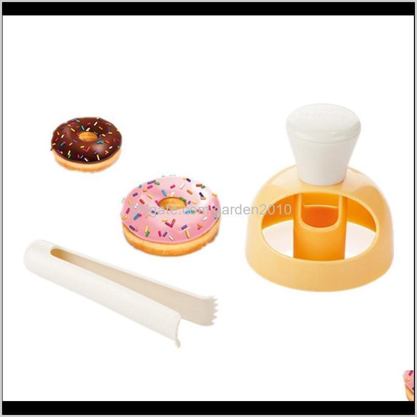المعجنات الإبداعية diy دونات العفن أدوات تزيين الكعكة البلاستيك الحلويات خبز القاطع صانع الخبز اللوازم المطبخ أداة HHF4315 TMLW0 SAHRB