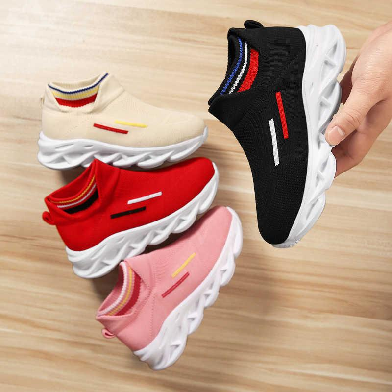 2021 Kids Casual Shoes Fashion Toddler Infant Baby Girls Boys Mesh Soft Sole Light Girls Sneakers Anti-slip Sport Children Shoes Q0629