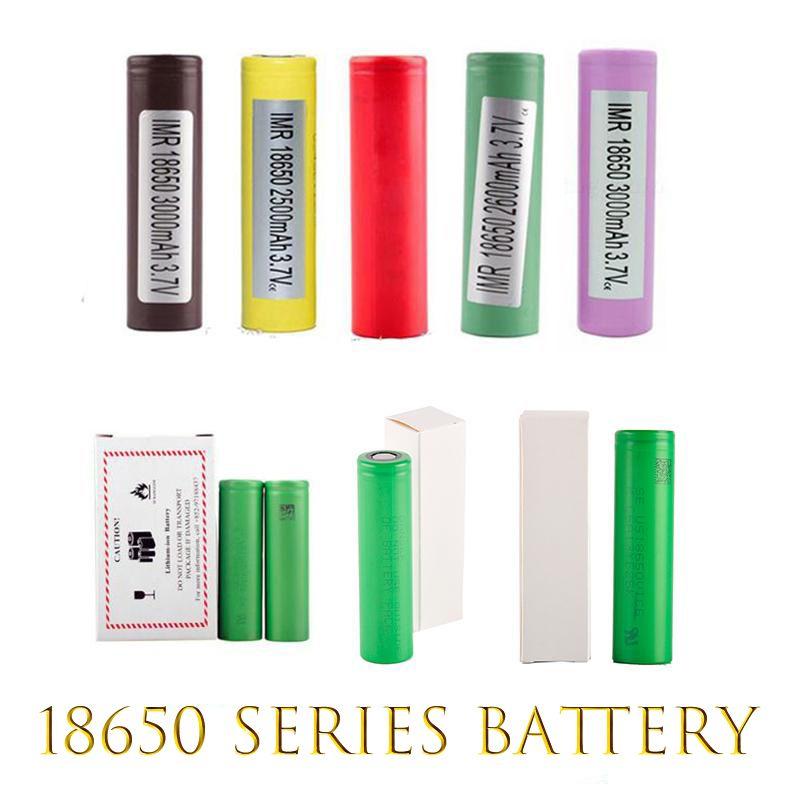 Batterie digitali HG2 30Q VTC6 3000mAh INR18650 LG 25R He2 He4 2500mAh VTC5 2600mAh VTC4 18650 Batteria E CIG mod ricaricabile