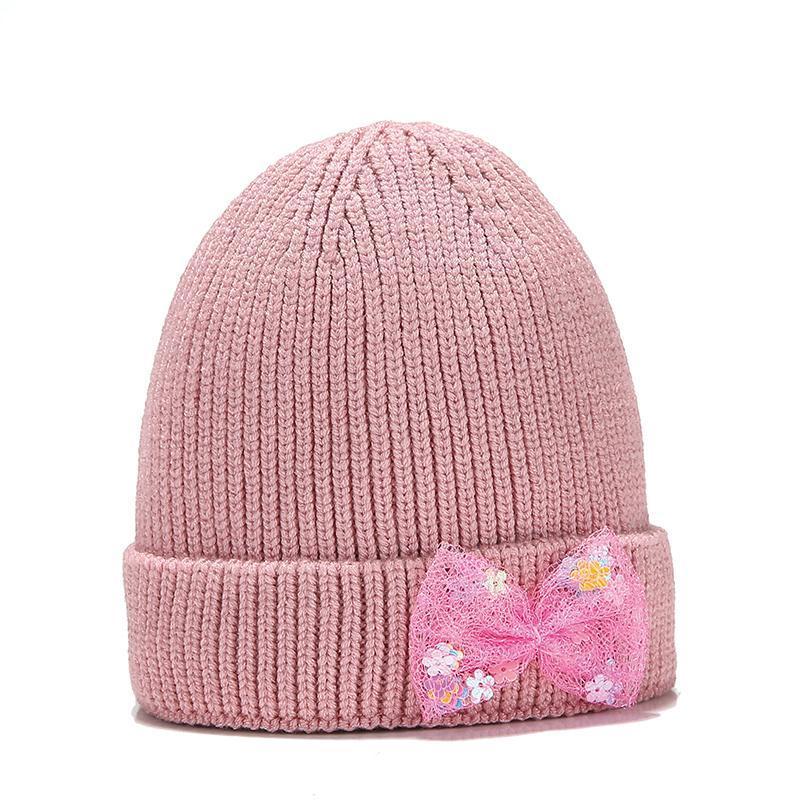 니트 키즈 비니 모자 유아 아기 소녀 모자 따뜻한 어린이 가을 겨울 소녀 유아 muts 보닛 홍적 모자 모자