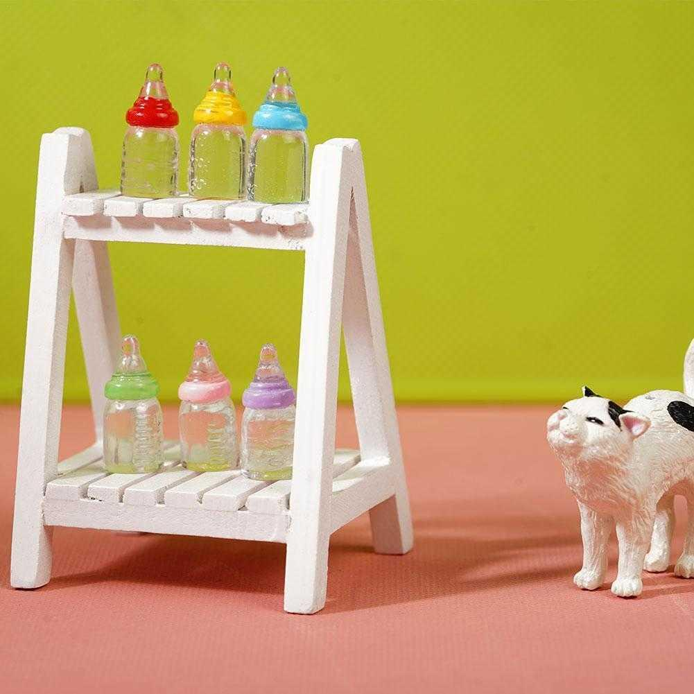 Mini 1:12 Dollhouse Miniature Baby Milk Bottle Doll House Decoration Accessories Girl Birthday Gifts Supplies