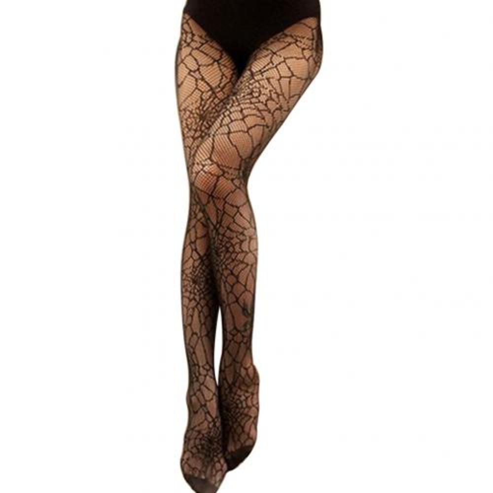 Venta caliente Mujeres Spider Web Medias Halloween Bruja Disfraz Vestido Disfraz Pantyhose Largo Sexy Fishnet High Medias X0521