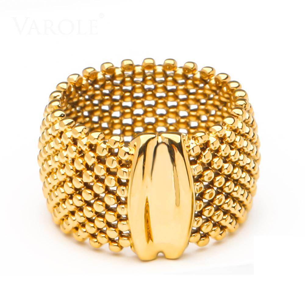 Varle الخرز خواتم للنساء الذهب اللون أنيق الدائري الأصدقاء هدايا الأزياء والمجوهرات anillos موهير