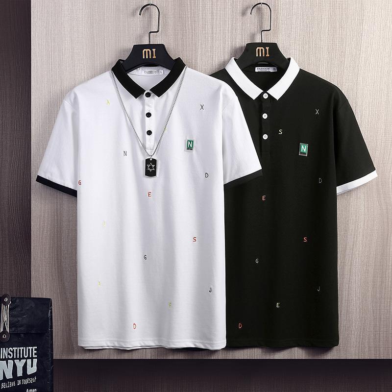 FactoryV3TZ Think 2021 мужская молодежная молодежь летнее новая поло Корейский рубашка с коротким рукавом верхний досуг спортивные буквами