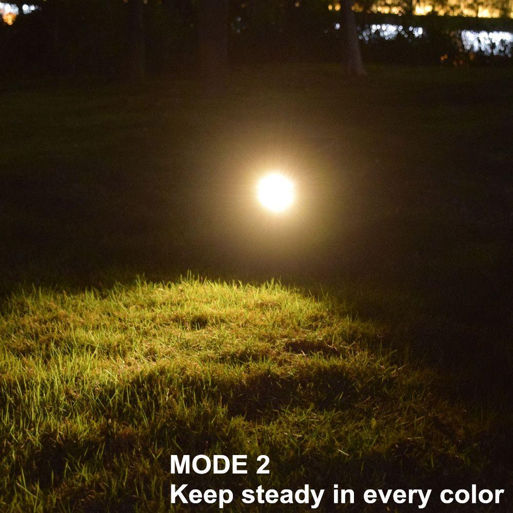 Luzes do jardim LED lâmpada movida a energia solar com inserção à terra 7 cores Lâmpada de montagem em terra / parede para decoração ao ar livre