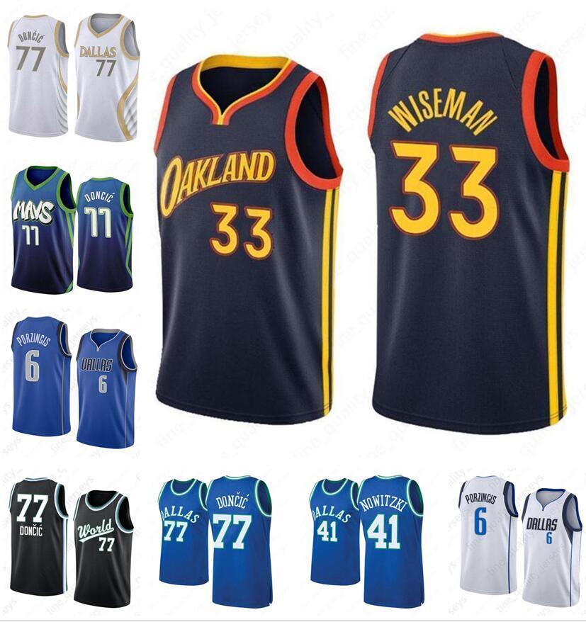 Luka NCAA 77 Doncic College Men Jerseys Kristaps 6 Porzingis Dirk 41 Nowitzki Stephen 30 Curry 2021