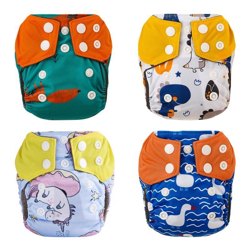 Elinfant 4 PCS / 세트 태어난 아기 대나무 숯 Aio Cloth 기저귀 기저귀 당신의 배꼽 버튼이 3kg 미만의 배꼽을 보호합니다.