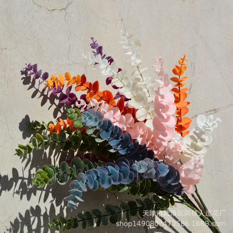 الزهور الزهور إكليلات install المشاهير زجاجة واحدة فيلم الأوكالبتوس النباتات الاصطناعية ورقة المال الجدار الزفاف المناظر الطبيعية