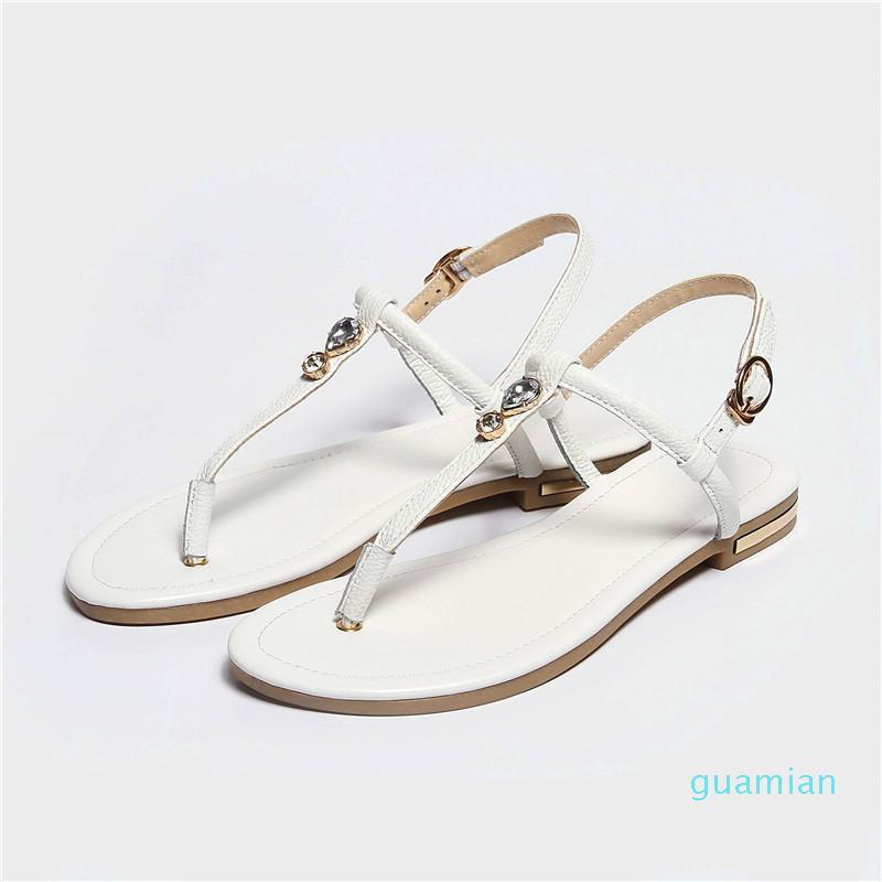Women Summer Cow Leather Flip Flops Sandal Shoes Woman Sandals chaussure femme Sandalias Mujer sandalia feminina wholesale