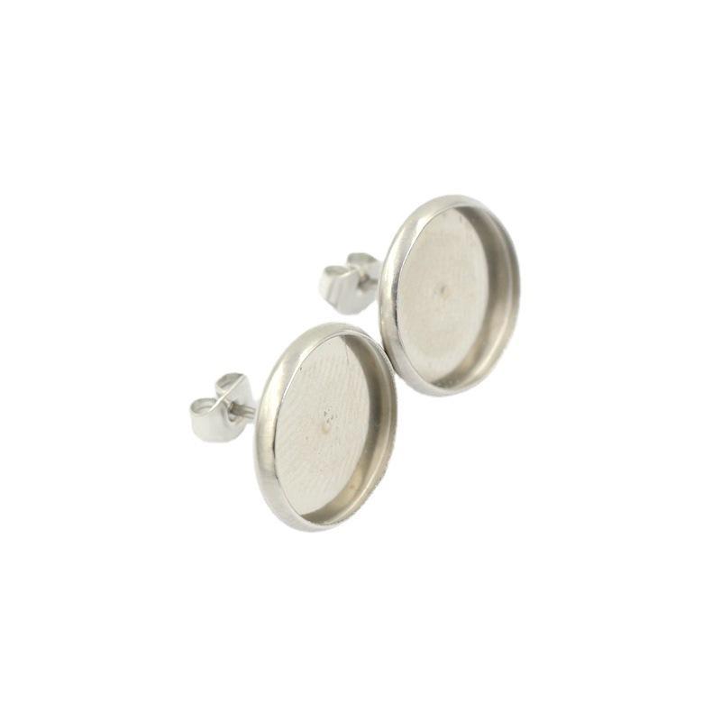 Fit 8 мм 10 мм 12 мм 14 мм 16 мм кабошонки медных серебряных серебряных серьги BEZEL BULLY кольцевая база для DIY создание K05122 1659 Q2