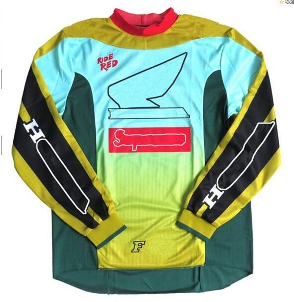 2021 Nouvelle moto en descente Jersey Vélo de montagne hors route Polyester à manches longues Réchage rapide Le même style peut être personnalisé