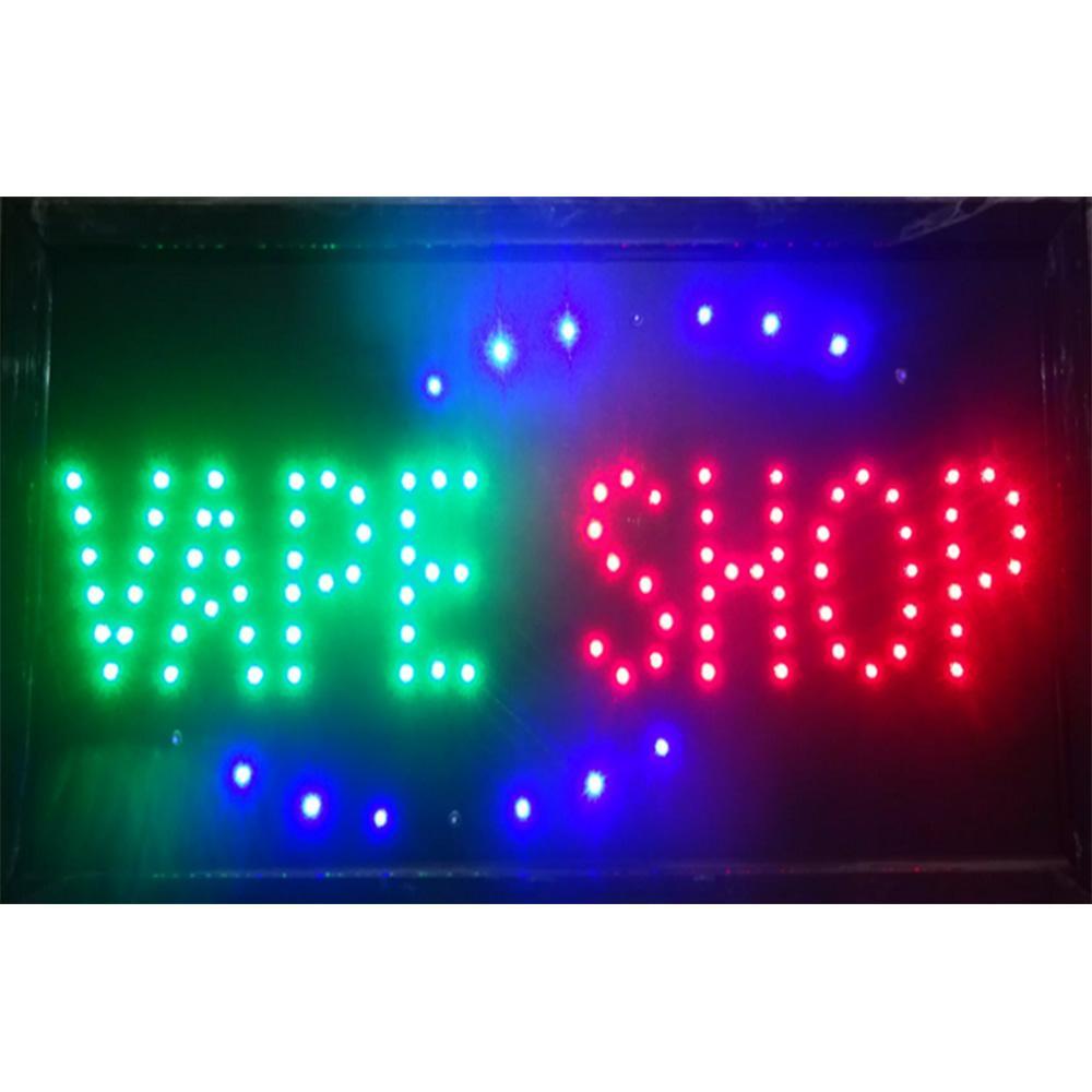 الجملة 2021 البيع المباشر بقيادة متجر Vape shop علامة مخصص علامات النيون السجائر الإلكترونية متجر الأعمال المفتوحة 19 * 10 بوصة