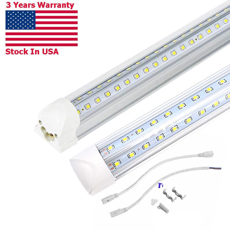 4FT LED Shop Light tube, 50W Linkable 4 Foot lamp Fixture, 5000lm, 6000K, Triple Row V Shape T8 , High Output lighting for Garage Warehouse Workshop Basement (25-Pack)