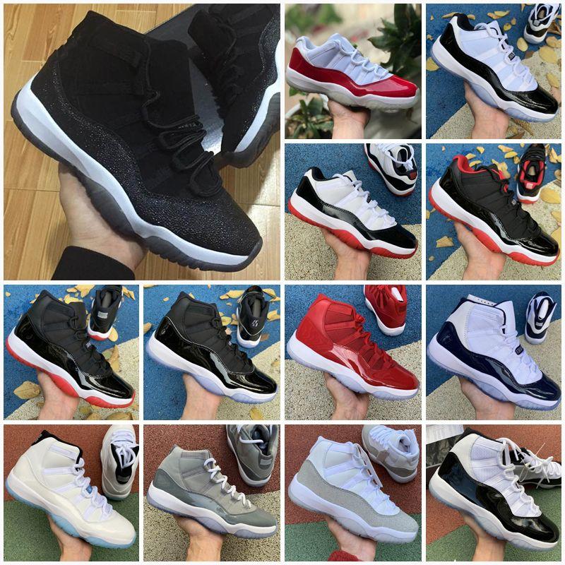 Xi Jumpman 11s Bred 11 Concord Erkek Açık Ayakkabı Platin Tonu Spor Salonu Kırmızı Kap ve Kıyafeti Prm Heiress Kadın Erkek Spor Sneakers 36-47