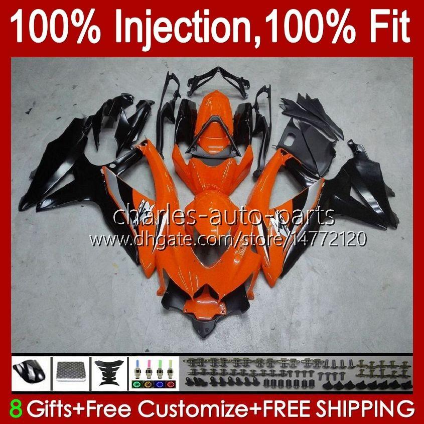 Injektionsform för SUZUKI GSXR600 K8 GSX-R750 GSXR-600 GSXR-750 GSXR750 Bodywork 9HC.19 Orange Black GSX-R600 2008 2009 2010 GSXR 600 750 CC 600CC 750cc 08 09 10 FAIRING