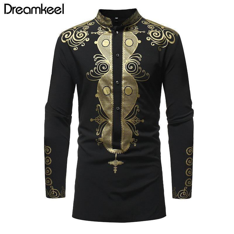 망 hipster 아프리카 인쇄 드레스 셔츠 2021 브랜드 부족의 민족 남자 긴 소매 셔츠 아프리카 의류 Y 남자 캐주얼