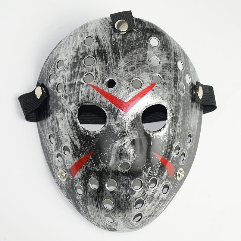 레트로 제이슨 마스크 공포 재미있는 전체 얼굴 마스크 청동 할로윈 코스프레 의상 무서운 마스크 무서운 하키 마스크 파티 용품 ZHL5675