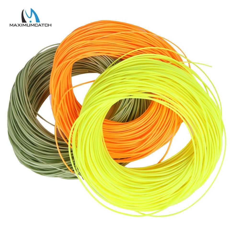 Maximumcatch 1-8WT 100FT DT Fly Fishing Line Double Taper Floating Green/Yellow/Orange Color 210609