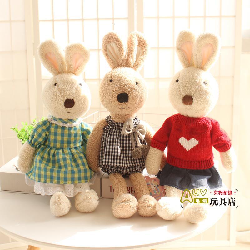 Plüschpuppen austauschbare Frühlingsspitze Rock Sucre Kaninchen Puppe Kleidung Bunny Geschenk