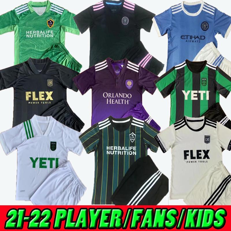 Acquista MLS 21 22 La Galaxy Away Soccer Jersey Inter Miami Los Angeles Atlanta United New York 20212022 Austin Orlando City Lappc Rosa Arancione ...