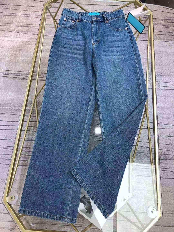 Milan Pist Jeans 2021 Yeni Moda Tasarımcısı Düz Kot Marka Aynı Stil Lüks Kadın Kotları 1227-36
