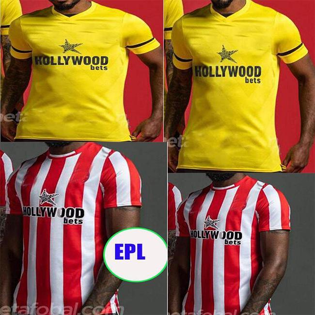 2021 2022FC Brentford 21 22soccer Jerseys Home Fosu Mbeumo Toney Dasilva Forss Canos Camisetas Maillot De Pé Adulto Futebol Camisas