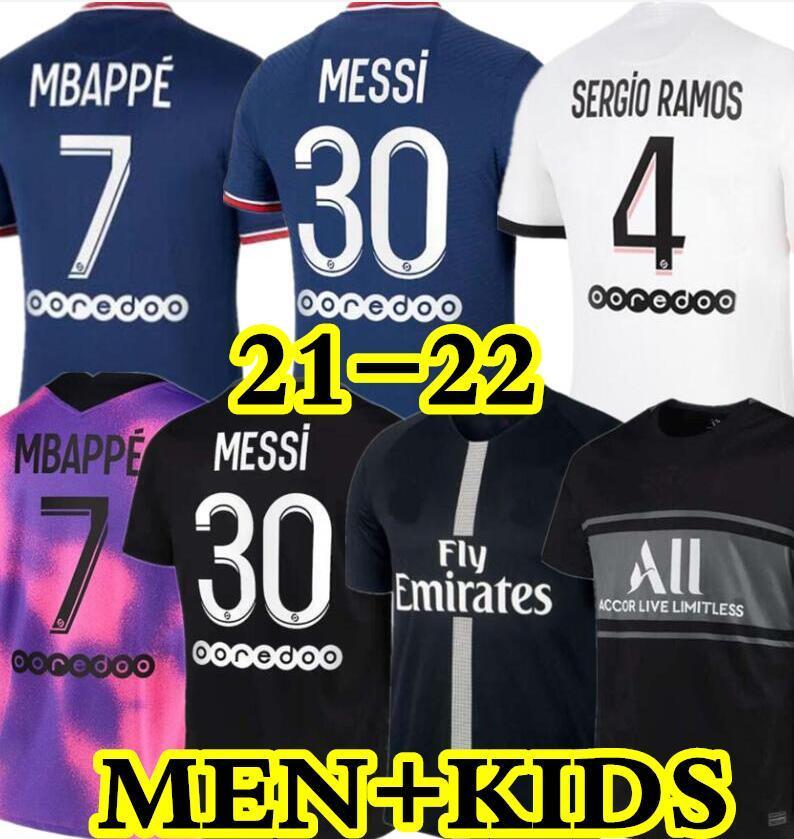 NEYMAR MBAPPE ICARDI MAILLOTS DE FOOTBALL PSG 19 20 21 soccer jersey de la psg 2019 2020 2021 maillot foot Paris saint germain kit chemise PSG enfant SETS enfants