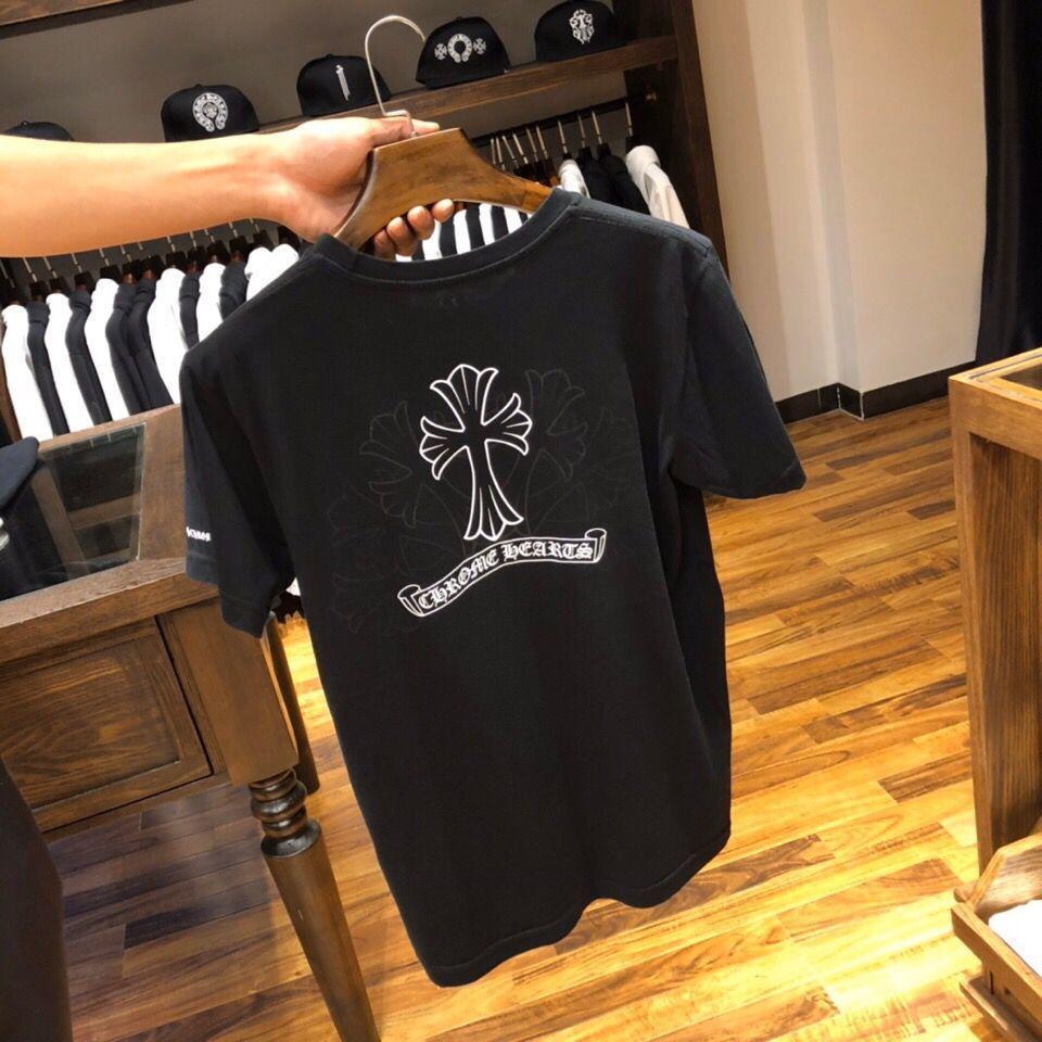 Moda 2021 Marka Yeni Yaz Yüksek Sonu Crosin Sanskriti Phantom Baskı Çapraz Kısa Kollu T-shirt Erkekler ve Kadınlar için