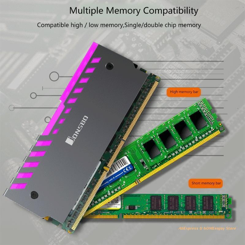 Laptop Cooling Pads 2pcs Memory Heatsink Motherboard AURA Vest RGB 256 Color Light Radiator Dropship