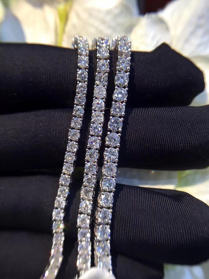 Link, Chain TB264 0.1/0.3/0.5/pcs Small Stone Luxury NSCD Simulated Gem, 925 Sterling Silver Bracelets,charm Bracelets Tennis Bracelet