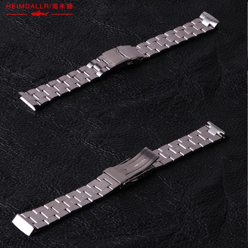 Heimdallr Solid Watch Band 20MM Stainless Steel For Abalone 6015 Strap Suitable Automatic Men Bands