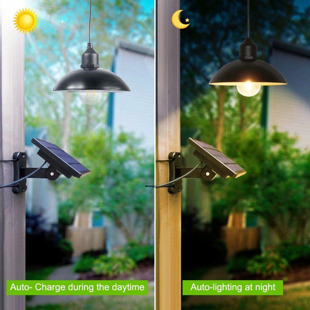 Lâmpadas de edison de luz solar ao ar livre com lâmpada solar de painel lanterna lanterna lâmpada solar luz de jardim