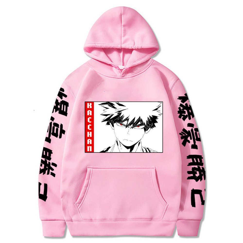 Боку нет герой академии капюшона мода пуловеры с карманами с длинным рукавом зимний мужчина и женщина x0610